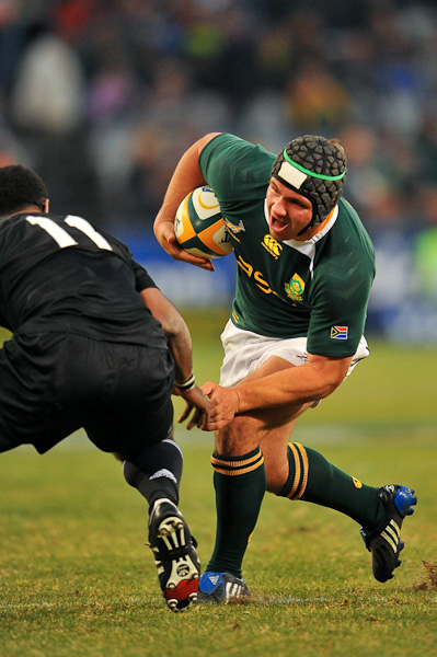BLOEMFONTEIN, SOUTH AFRICA - JULY 25, Heinrich Brussow during the 2009 Tri-Nations Series match between South Africa and New Zealand from Vodacom Park on July 25, 2009 in Bloemfontein, South Africa. Photo by Johan Pretorius