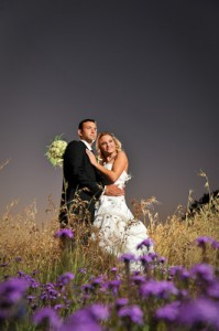 Wedding images go couple in field
