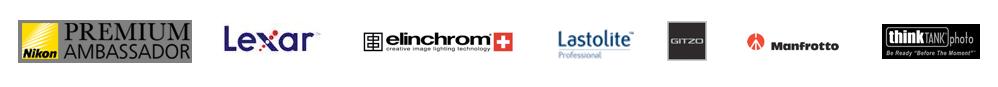 Premium Ambassador for Nikon, Lexar, Elinchrom, Lastolite, Gitzo, Manfrotto and ThinkTank