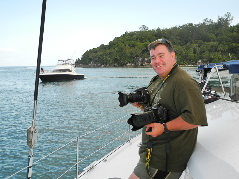 Nikon D4 & D800 cameras in the Seychelles on assignment