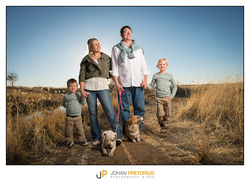 On location shoot of the Troskie family