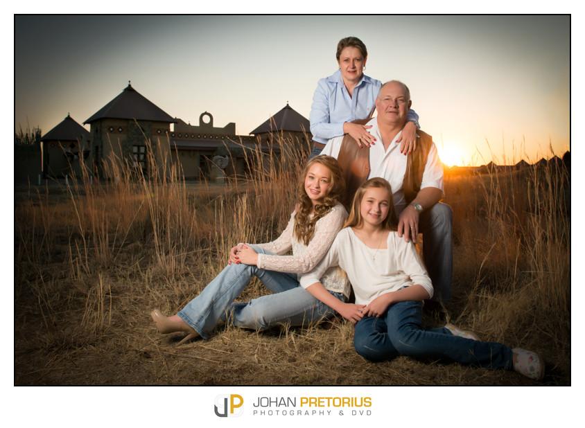 Dr Frieda Pienaar with her family