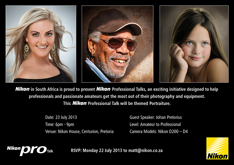 Nikon Pro Talk – 23 July 2013 – Johan Pretorius – Portraiture & Lighting