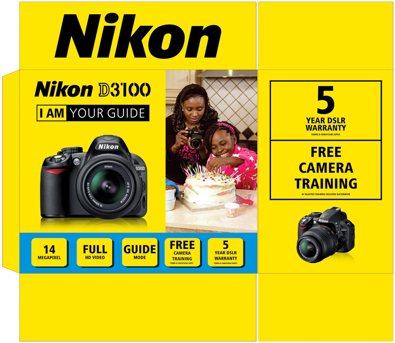 Thank you Nikon for using my images on the boxes of the D3100