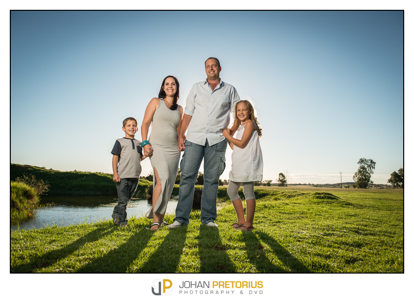 The Dreyer Family shoot on location
