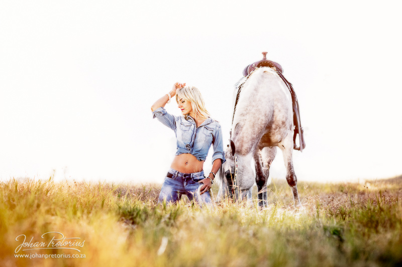 Yolandé and the horse session