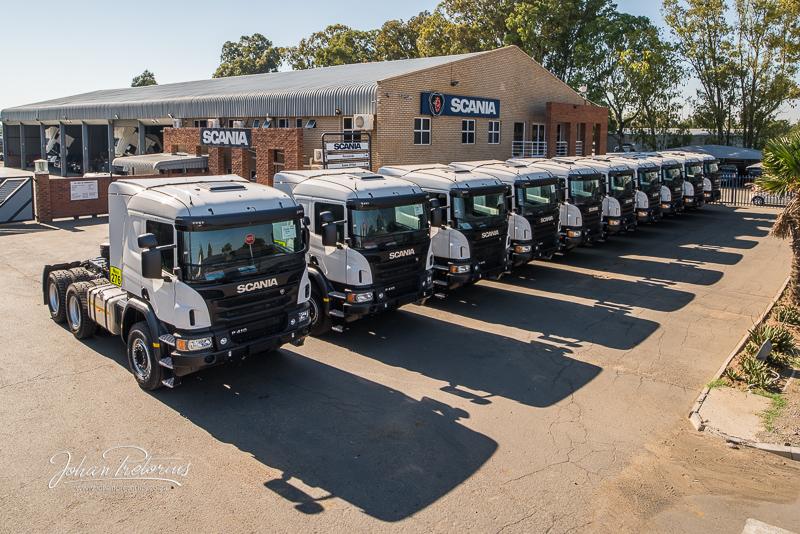 Scania delivery of new 10 trucks by Bloemfontein Photographer Johan Pretorius