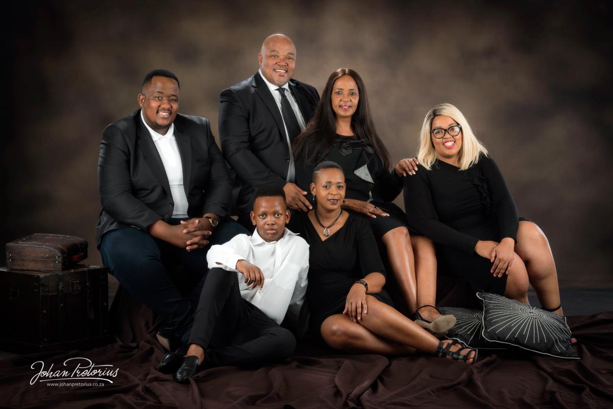 Clive & Mamosa Molibeli Family by Bloemfontein portrait photographer Johan Pretorius